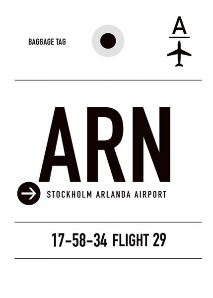 ARN Stockholm Poster in the group Posters & Prints / Maps & cities at Desenio AB (10001)
