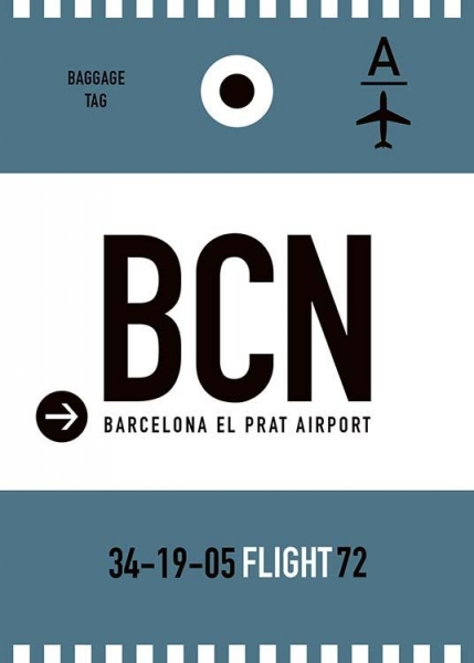 BCN Barcelona Poster in the group Posters & Prints / Maps & cities at Desenio AB (10002)
