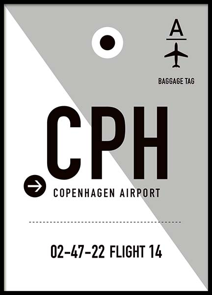 CPH Copenhagen Poster in the group Posters & Prints / Maps & cities at Desenio AB (10004)