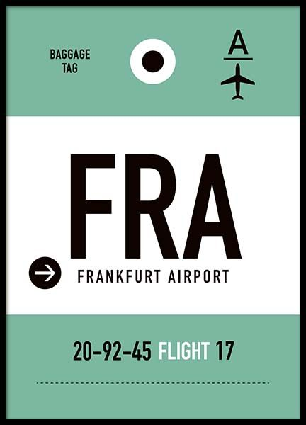 FRA Frankfurt Poster in the group Posters & Prints / Maps & cities at Desenio AB (10005)