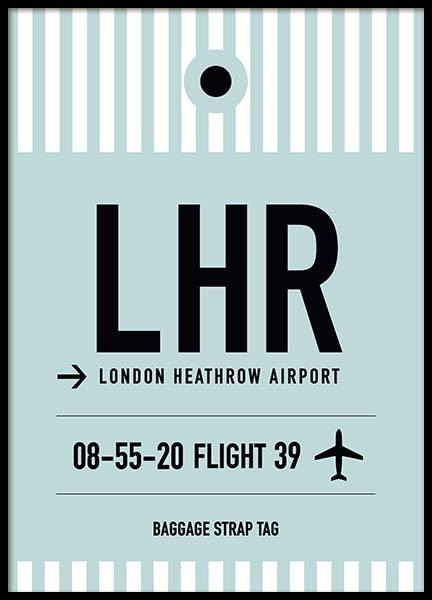 LHR London Poster in the group Posters & Prints / Maps & cities at Desenio AB (10008)