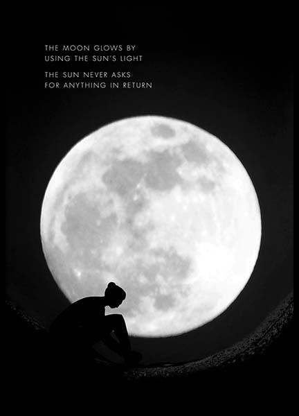 The Moon Glows Poster in the group Posters & Prints / Motivational at Desenio AB (10013)
