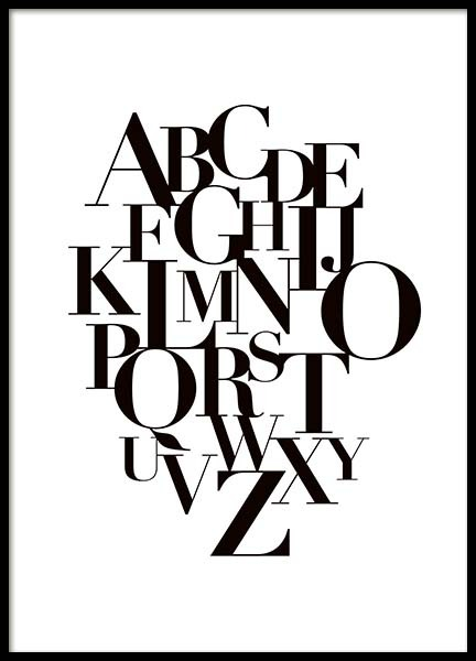 Alphabet Poster in the group Posters & Prints / Kids posters at Desenio AB (10015)