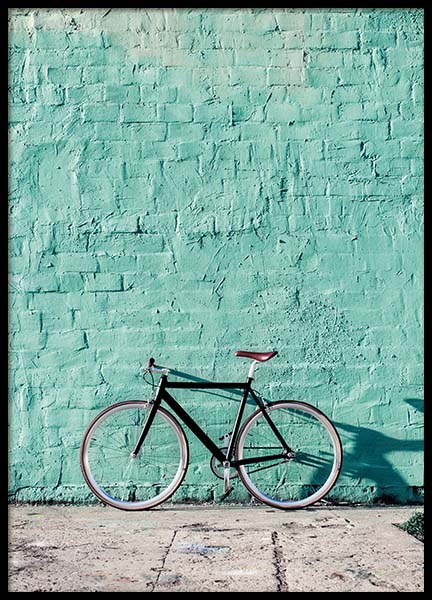 Mint Bike Poster in the group Posters & Prints / Photography at Desenio AB (10043)