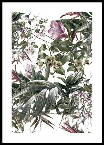 Flower Pattern No2 Poster in the group Posters & Prints / Botanical at Desenio AB (10073)