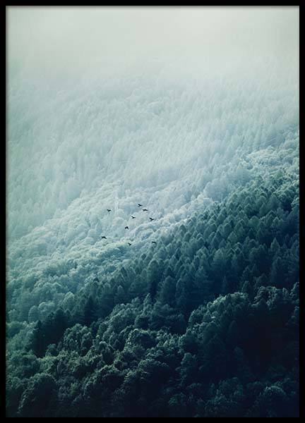 Foggy Mountainside Poster in the group Posters & Prints / Sizes / 50x70cm | 20x28 at Desenio AB (10089)