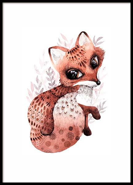 Little Fox Poster in the group Posters & Prints / Kids posters at Desenio AB (10116)