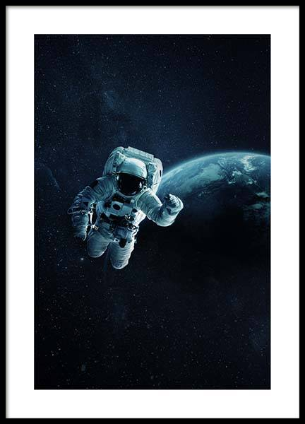 Astronaut In Space Poster in the group Posters & Prints / Kids posters at Desenio AB (10118)