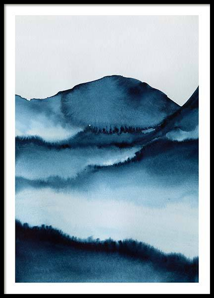 Watercolor Mountains Poster in the group Posters & Prints / Sizes / 50x70cm | 20x28 at Desenio AB (10124)
