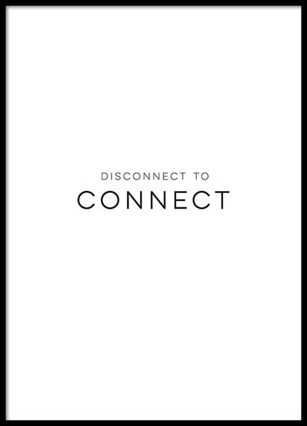 Disconnect Poster in the group Posters & Prints / Typography & quotes at Desenio AB (10132)