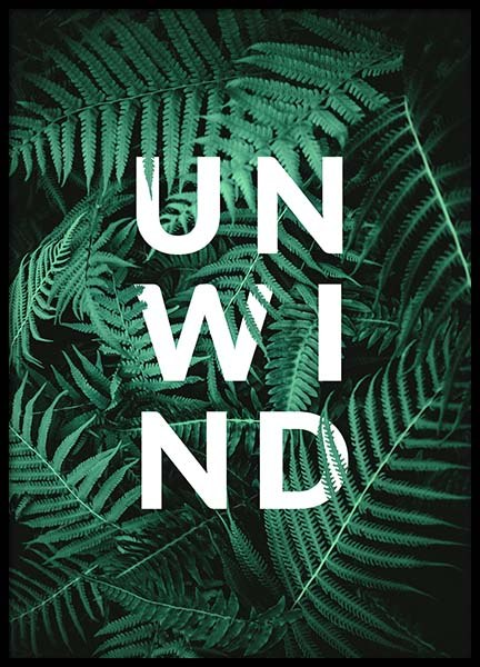 Unwind Poster in the group Posters & Prints / Text posters at Desenio AB (10139)