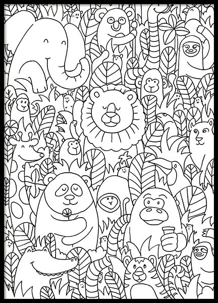 Jungle Friends Poster in the group Posters & Prints / Kids posters at Desenio AB (10205)