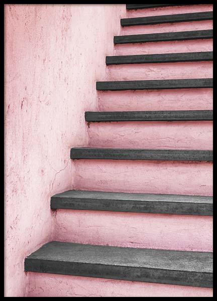Pink Staircase Poster in the group Posters & Prints / Photography at Desenio AB (10266)