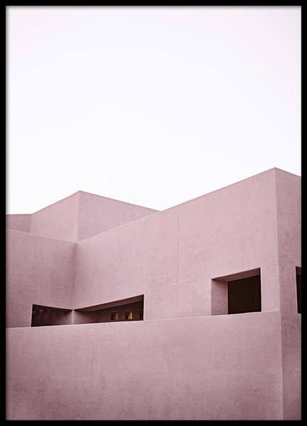 Pink Architecture Poster in the group Posters & Prints / Photography at Desenio AB (10269)