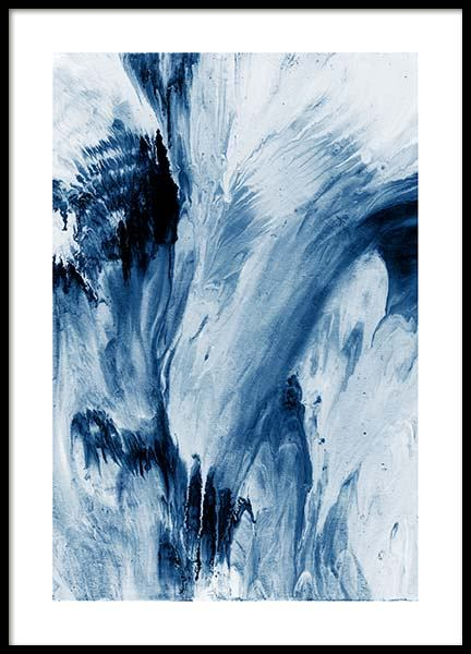 Abstract Blue Poster in the group Posters & Prints / Art prints at Desenio AB (10273)