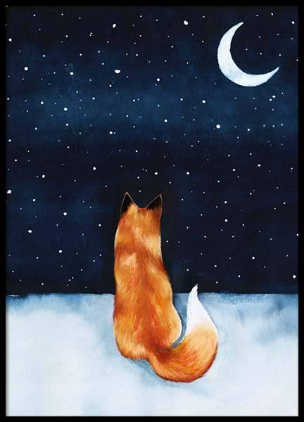 Night Fox Poster