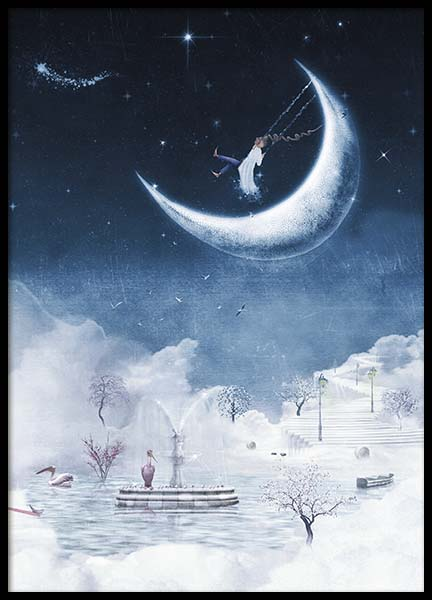 Foggy Winter Night Poster in the group Posters & Prints / Kids posters at Desenio AB (10277)