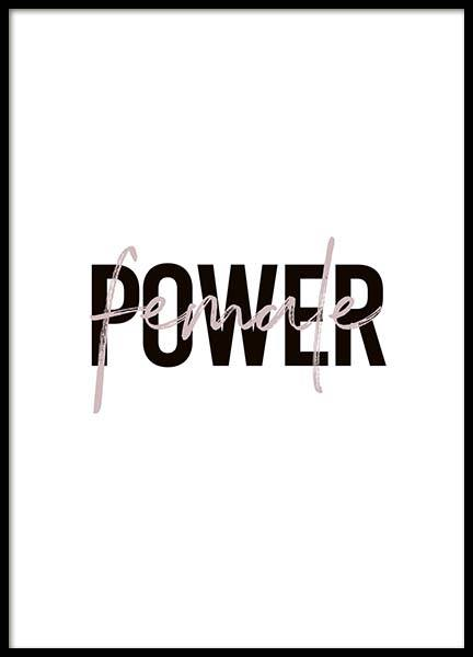 Female Power Poster in the group Posters & Prints / Typography & quotes at Desenio AB (10292)