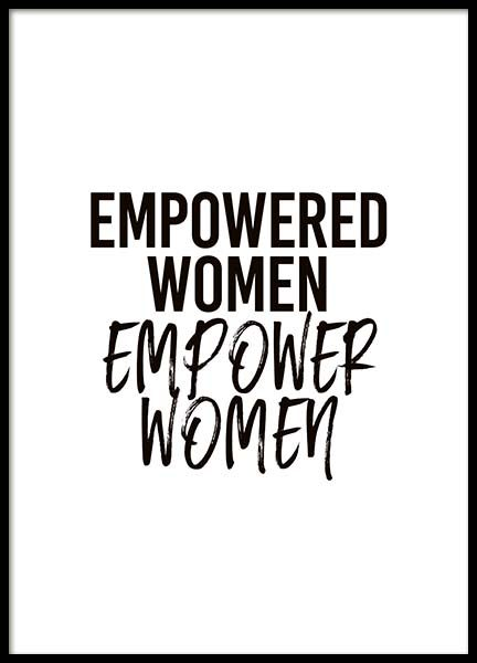 Empower Women Poster in the group Posters & Prints / Typography & quotes at Desenio AB (10294)