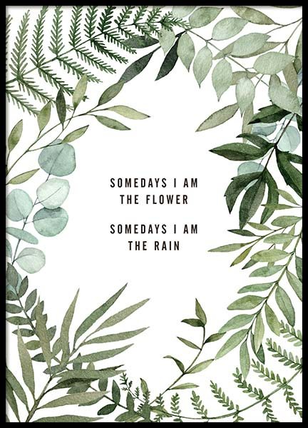 Somedays I Am Poster in the group Posters & Prints / Typography & quotes at Desenio AB (10296)