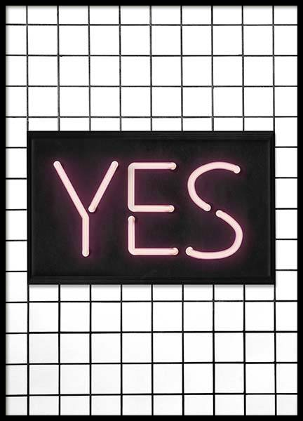 Yes Neon Poster in the group Posters & Prints / Typography & quotes at Desenio AB (10302)