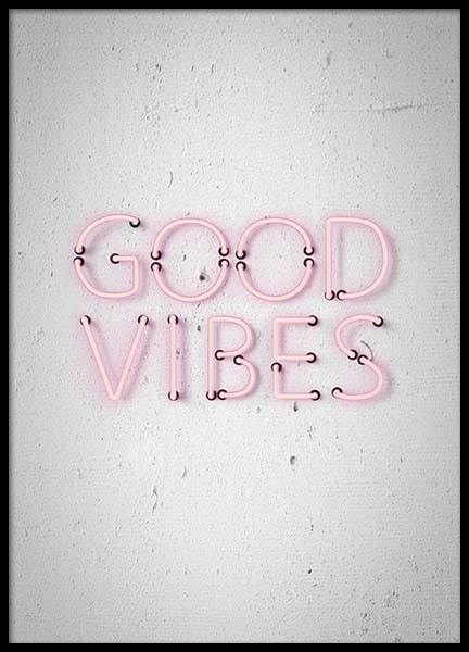Good Vibes Poster in the group Posters & Prints / Typography & quotes at Desenio AB (10303)