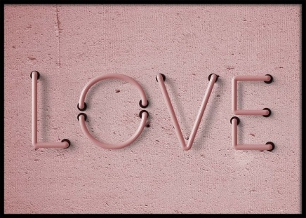 Love Neon No1 Poster in the group Posters & Prints / Text posters at Desenio AB (10304)