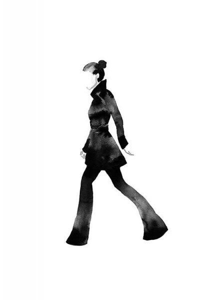 Fashion Silhouette No1 Poster in the group Posters & Prints / Fashion at Desenio AB (10312)