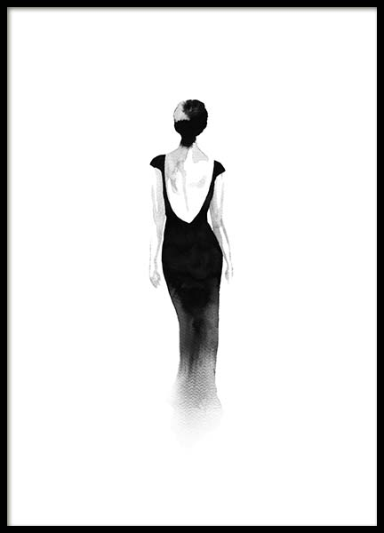 Fashion Silhouette No2 Poster in the group Posters & Prints / Black & white at Desenio AB (10313)