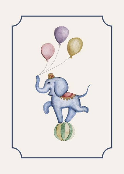 Circus Elephant Poster in the group Posters & Prints / Kids posters at Desenio AB (10325)