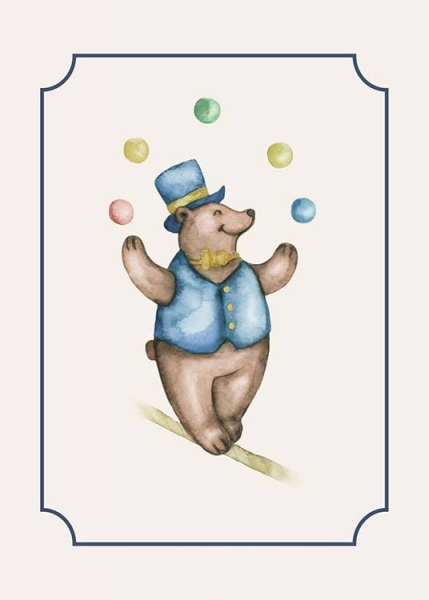 Circus Bear Poster in the group Posters & Prints / Kids posters at Desenio AB (10326)