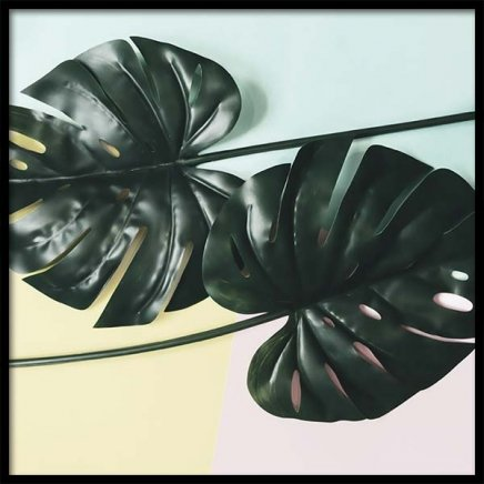 Leaves On Pastel Poster in the group Posters & Prints / Botanical at Desenio AB (10338)