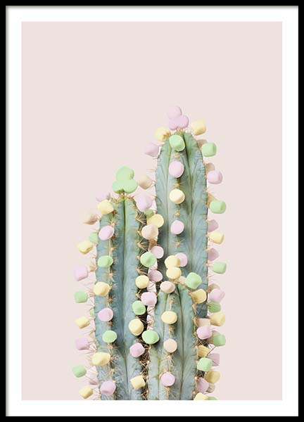 Candy Cactus Poster in the group Posters & Prints / Photography at Desenio AB (10340)