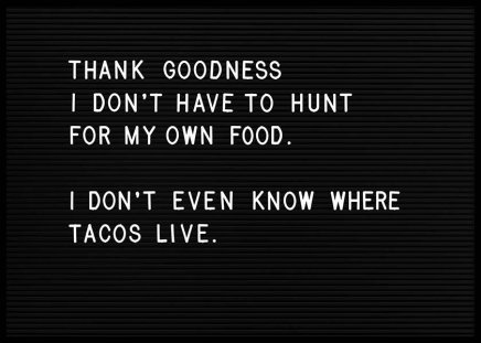 Taco Hunt Poster in the group Posters & Prints / Typography & quotes at Desenio AB (10360)