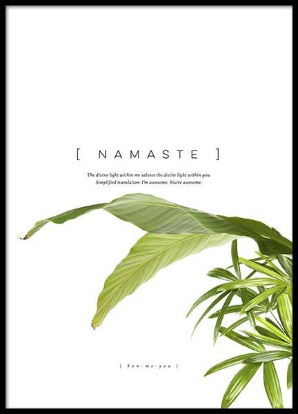 Namaste Poster in the group Posters & Prints / Typography & quotes at Desenio AB (10362)