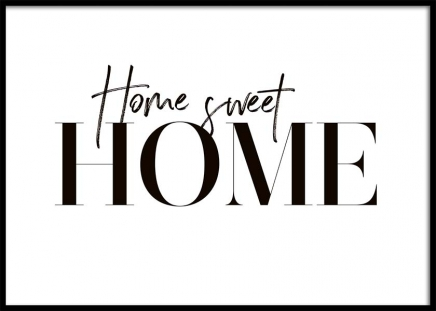 Sweet Home Poster in the group Posters & Prints / Text posters at Desenio AB (10369)