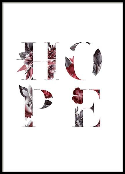 Floral Hope Poster in the group Posters & Prints / Typography & quotes at Desenio AB (10386)