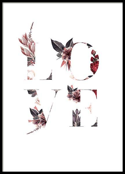 Floral Love Poster in the group Posters & Prints / Typography & quotes at Desenio AB (10387)