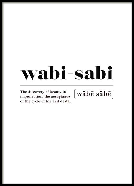 Wabi-sabi Poster in the group Posters & Prints / Typography & quotes at Desenio AB (10502)