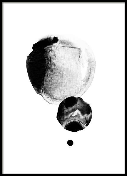 Watercolor Dots  Poster