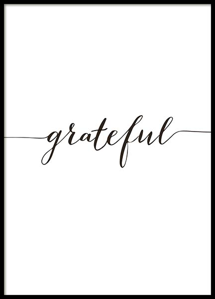 Grateful Poster in the group Posters & Prints / Typography & quotes at Desenio AB (10507)