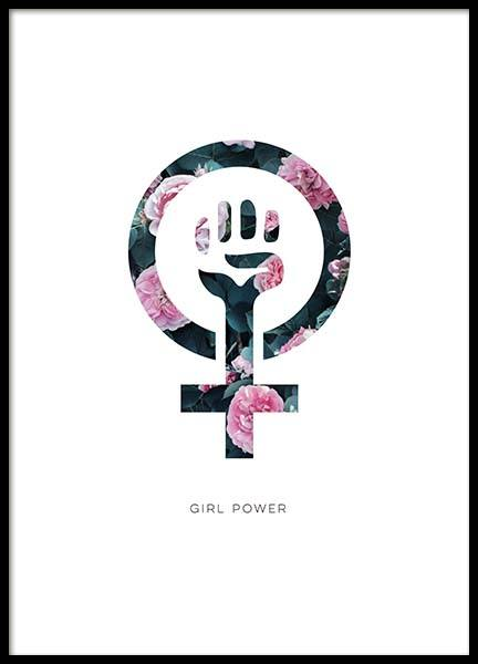 Girl Power Flower Poster in the group Posters & Prints / Kids posters at Desenio AB (10514)