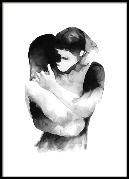 Ink Embrace Poster in the group Posters & Prints / Black & white at Desenio AB (10535)