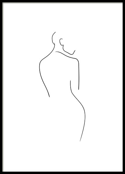 Naked Lines No2 Poster in the group Posters & Prints / Black & white at Desenio AB (10539)