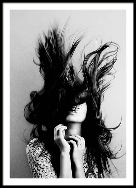 Hair Poster in the group Posters & Prints / Black & white at Desenio AB (10547)