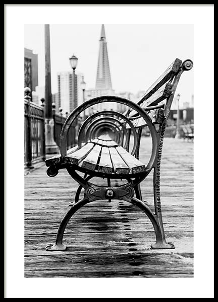 B&W Bench Poster in the group Posters & Prints / Photography at Desenio AB (10548)