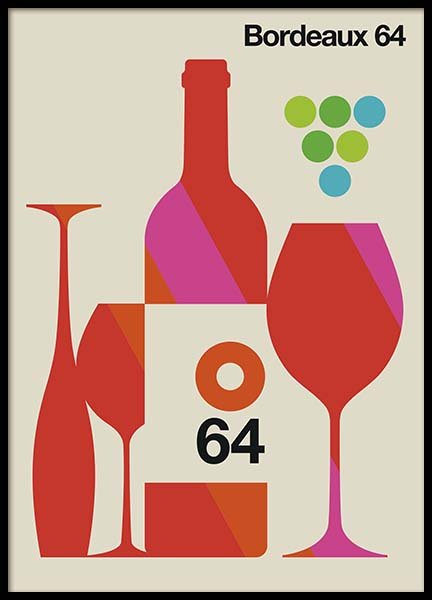 Bordeaux 64 Poster in the group Posters & Prints / Kitchen at Desenio AB (10586)