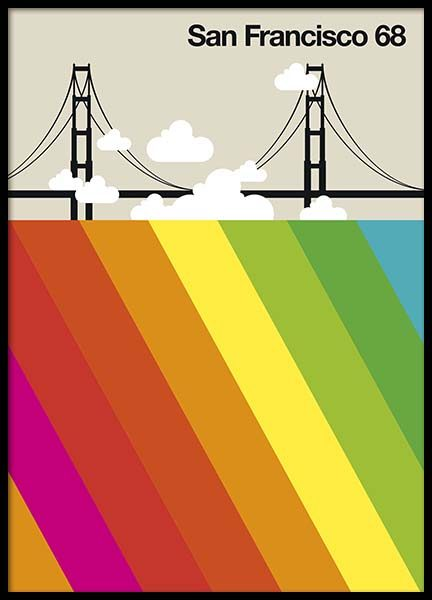 San Francisco 68 Poster in the group Posters & Prints / Maps & cities at Desenio AB (10589)