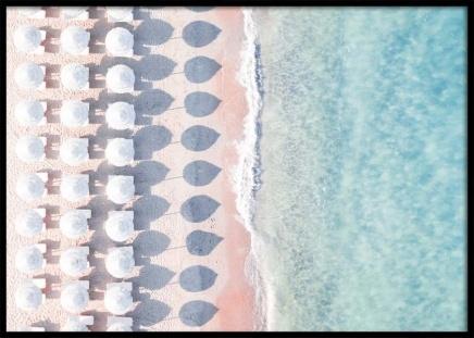 White Umbrellas Poster