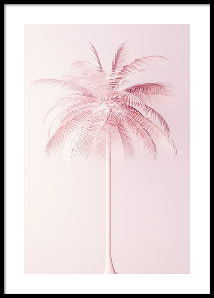 Pastel Pink Palm Poster in the group Posters & Prints / Botanical at Desenio AB (10635)